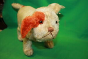 "STEIFF Molly Dog 8"" Standing Vintage Mohair? Spotty? Bulldog Pug"