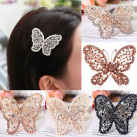 New Crystal Rhinestone Butterfly Wedding Bridal Hair Comb Hairpin Clip Barrette