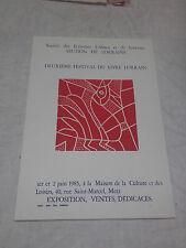 Affiche linogravure par Jean Vodaine - 2e festival du Livre Lorrain - 1985