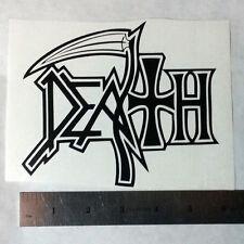 DEATH Vinyl DECAL STICKER Heavy Thrash Metal BAND Logo Window Guitar LP Chuck