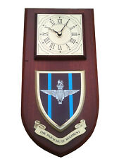 Parachute Regiment Military Shield Wall Plaque Clock