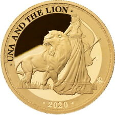 """St. Helena 5 pound 2020, PROOF 1oz Gold, """"Una and the Lion"""""""