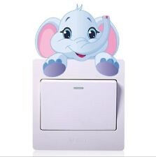 Elephant light switch decal sticker baby nursery boy girl