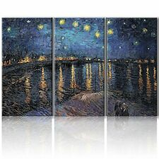 """Wall26 Canvas- Starry Night over The Rhone by Vincent Van Gogh - 36""""x18"""" x 3"""