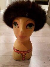 Betmar New York Paris - Dark Mink Cloche Cap Hat - Beautiful Condition
