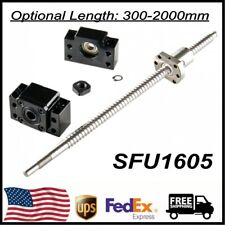 1pcs Ball Screw Sfu1605 Rm1605 End Machined Ampbk12bf12 End Support 300mm 2000mm