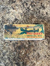 New listing Vintage Early Pflueger 5096 Wood Minnow Fishing Lure Box Only