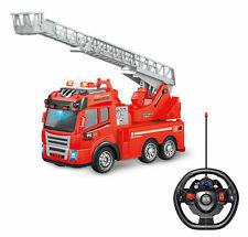 Feuerwehrauto R/C ferngesteuert Fire Truck mit Licht Sound Leiter NEU 1064175