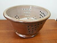 Antique Salt Glazed Stoneware Colander Sieve Strainer Farmhouse Kitchenalia