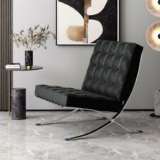 Barcelona Style Lounge Chair Replica Armchair Premium Italian Aniline Leather