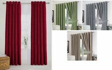 Chenille Contemporary Solid Eyelet Top Curtains & Pelmets