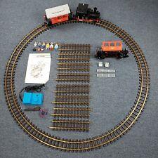 Vintage Playmobil Railroad Passenger Train 4002 Track, Manual, & Figures! TESTED
