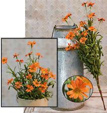 "Mini Mountain Daisy Bush in Orange - 18"" H - Pick Spray Branch - Pumpkin"