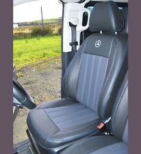 Mercedes Vito W447 Waterproof Tailored Van Leather Look Seat Covers With Logos