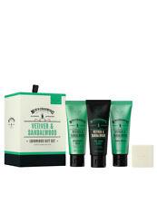 Scottish Fine Soaps Vetiver & Sandalwood Shave Cream Soap Bar Luxurious Gift Set