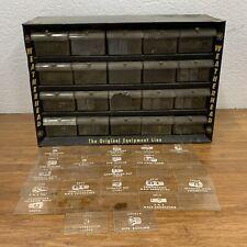 Weatherhead Rare Black Metal Storage Cabinet 20 Drawer Fittings Original Cards