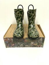 Toms Toddler Rain Boots CAMO Rubber Wellies Size 11 Rubber Shoes Tom's Tiny