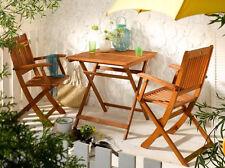 Linus Bistroset 3Tlg Gartenset Balkonset Klappstuhl Klapptisch Gartenmöbel natur