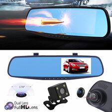 """Leshp 4 3"""" dual Lens Rückspiegel Auto DVR Dashcam Video Recorder Monitor 170° Of"""