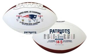 NEW ENGLAND PATRIOTS SUPER BOWL LIII SOUVENIR FOOTBALL AND FREE PLAYING CARDS