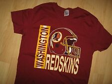 Washington Redskins Tee - NFL Football Helmet Vintage 1970's Thin USA T Shirt Lg