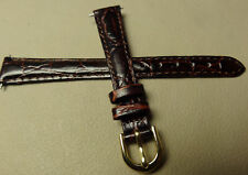 New Womens Timex Burgundy Crocodile Grain 13mm Watch Band Strap $9.95