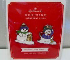 2018 Hallmark Koc Keepsake Studio Snow Buddies Exclusive Collectible Pin Set New