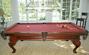 Peter Vitale 8ft Pool Table Package - ALL MINT TABLE - LIGHT - RACK - CHAIRS