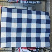 """Quilt 40 x 51""""  Hand Made Country Blues Cotton Fabric Batting and Thread Quality"""
