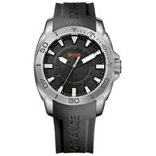 Hugo Boss Orange Black Silicone Strap Mens Watch 1512948