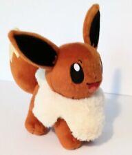 "Pokemon Tomy Plush Stuffed Sitting Eevee Brown Fox Stuffed Plush Toy 8"""