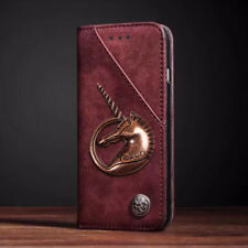 Unicorn Luxury Flip Leather Case Wallet Card Slots Flip Cases Cover For Wiko