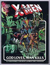 X-Men God Loves Man Kills VF Signed GN w/COA Chris Claremont 1982 1st Print