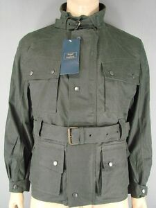 NEW WITH TAGS ROYAL PADDOCK BELTED OLIVE WAXED PURE COTTON JACKETS-S/M/L/XL/XXL