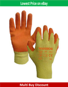 Latex Coated Construction Builders Gardening PPE Safety Grip glove Work Gloves