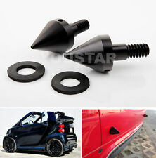 0Front/Rear Bumper Spikes X2 Guards BLACK Protectors for SMART Fortwo ED 451 08+