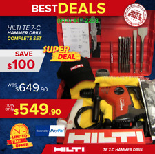 Hilti Te 7-C Hammer Drill, Preowned, In Great Condition, Free Bits Fast Shipping