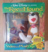 Disney Fox & the Hound VHS Tape Factory sealed w/ Copper plush toy NIB