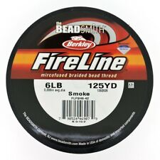 Beadsmith FireLine Beading Thread 6lb, size D, 125yds !!! SMOKE colour DARK GREY