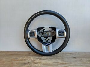 🔥2012-2014 Dodge Charger STX Black Leather Steering Wheel (No Bag) OEM SW6