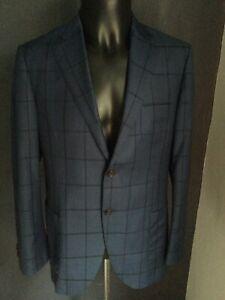 Men' Suit Jacket Herringbone Sydney Size 42 Size Large Fine Merino Wool
