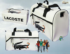 New Vintage LACOSTE GYM SPORTS DUFFLE HOLDALL Bag Sweet Croc 5 White