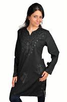 Zweiteiliges Salwar-Kameez-Set Hose Tunika im Pakistani-Stil in braun KAM00662
