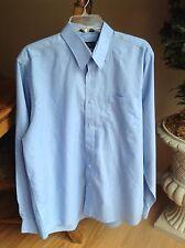 Men's Arthur Payne Size 16-34/35 Blue Button Front Dress Shirt EUC