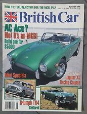 BRITISH CAR MAGAZINE 1995 AUGUST AC ACE JAGUAR XJ MINI COOPER TRIUMPH TR4