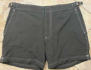 """Polo Ralph Lauren 7"""" Lined Swim Trunks Shorts Gray Men's Size 32"""