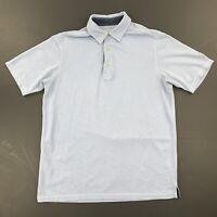 Tommy Bahama Mens Blue Short Sleeve Polo Shirt Size Small