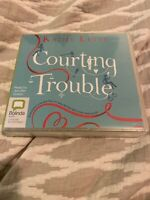 KATHY LETTE-COURTING TROUBLE- 9 CD AUDIO BOOK- NEW/SEALED