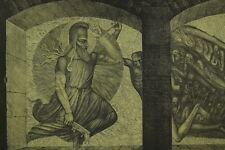 Ernst FUCHS Radierung aus dem Zyklus Samson - Samson kämpft gegen die Philister