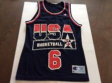 Vtg Team USA Dream Team 2 Derrick Coleman Champion Basketball Jersey Mens SZ 36